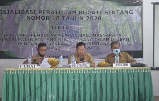Askiman Sosialisasikan Perbup No. 31 Tahun 2020 Terkait Tata Cara Pembukaan Lahan