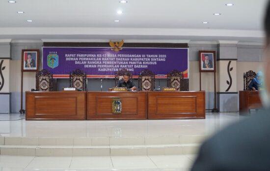 DPRD Sintang Bentuk Pansus Pengelolaan Keuangan Daerah