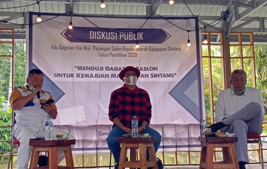 Adu Gagasan Visi Misi calon Bupati dan calon Wakil Bupati Pilkada Tahun 2020 Kabupaten Sintang