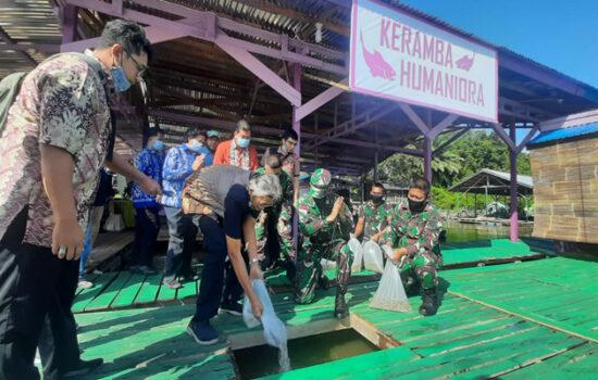 Launching Keramba Milik Kodim Sintang, Jarot Harap Peningkatan Konsumsi Ikan Semakin Tinggi